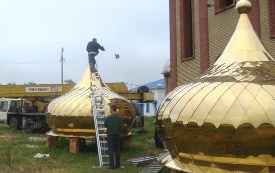 изготовление куполов и крестов