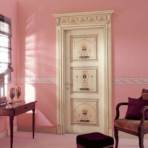 Декор межкомнатных дверей с помощью ткани