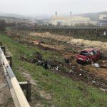 Под Севастополем автомобиль «улетел» в виноградники