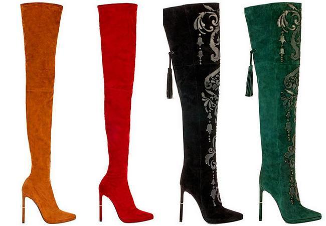 Женские кожаные ботфорты — и тепло, и красиво