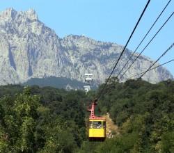 Канатная дорога в Крымских горах