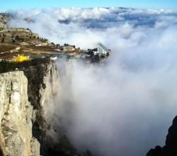 Ай-Петри в облаках. Крымские горы