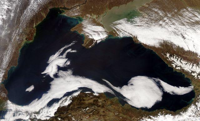 Чёрное море. Снимок со спутника