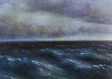 1881, Ivan Aivazovsky. The Black Sea