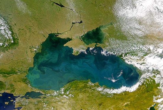 Чорное море, фото из Космоса