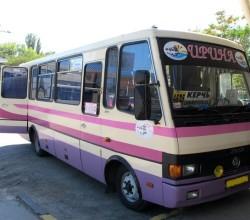 Автобус на Крымских линиях перевозки пассажиров