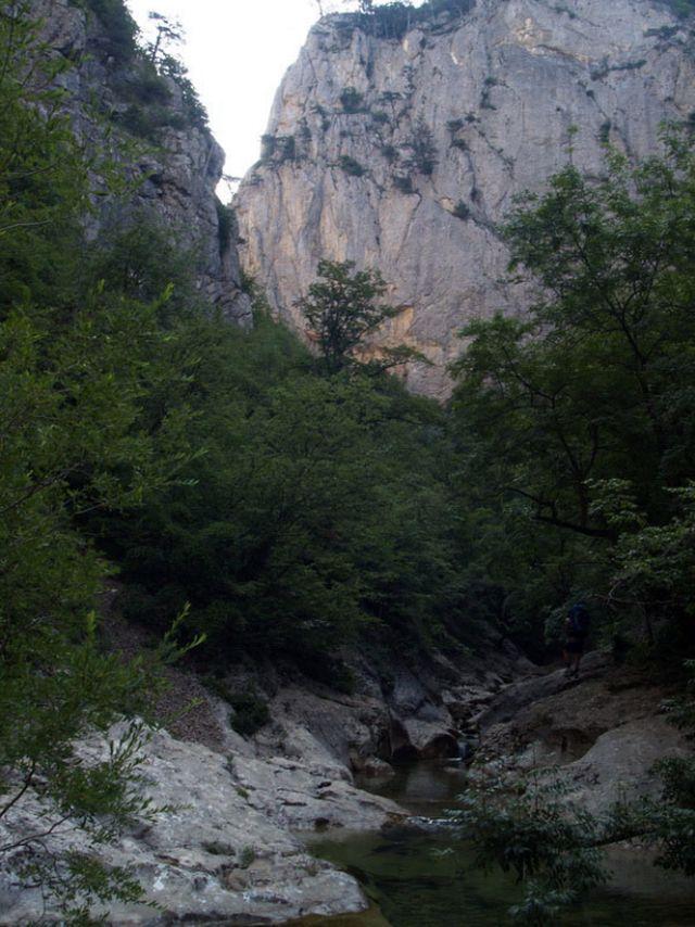 Вечер в большом каньоне Крыма