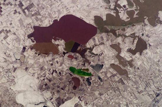 Северный Крым зимнее фото из космоса