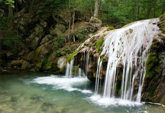 Водопады большого каньона Крыма