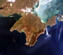 Крымский полуостров - фото из космоса