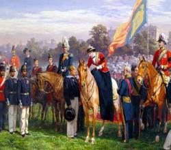 Королева Виктория вручает первые кресты Виктории в Гайд-парке, 26 июня 1857, Джордж Томас