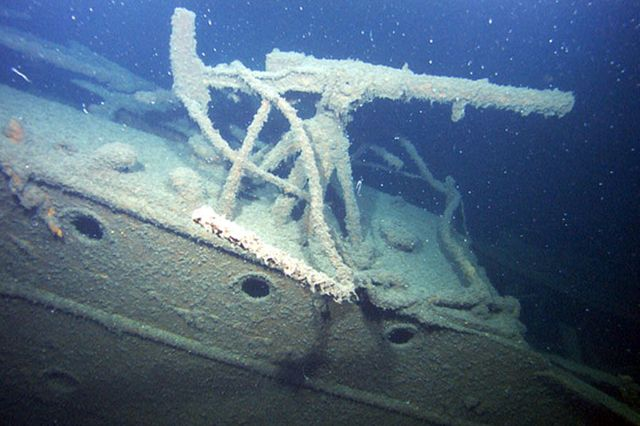 Затонувшее судно обнаруженное экспедицией