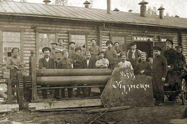 Кузнечная артель в немецкой деревне