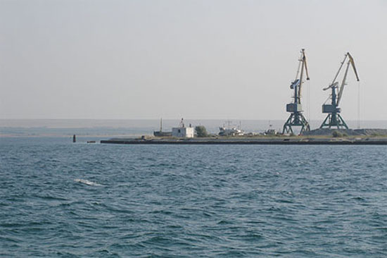 Крым, порт на озере Донузлав