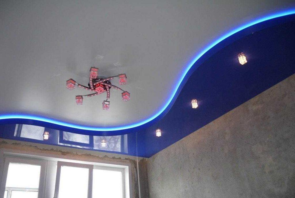 Натяжные потолки с подсветкой. Особенности и преимущества