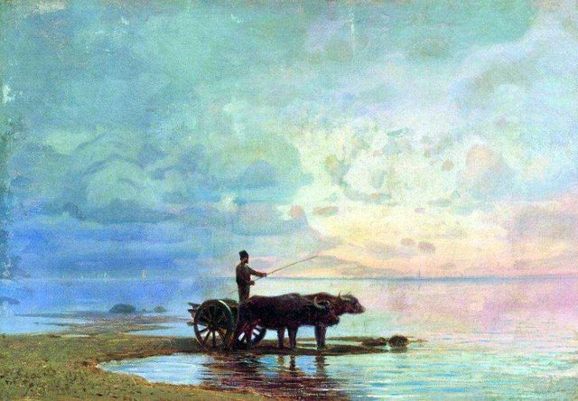 Ф.Васильев «На берегу моря»
