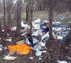 Свалка мусора возле тассы