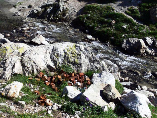 Свалка в горах