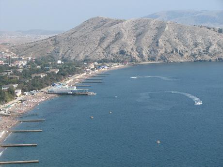 Судакская бухта, вид из Генуэзской крепости