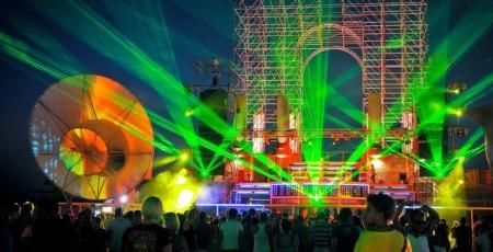 Лазерное шоу на Казантипе в лисьей бухте
