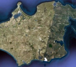 Керченский полуостров. Фото со спутника