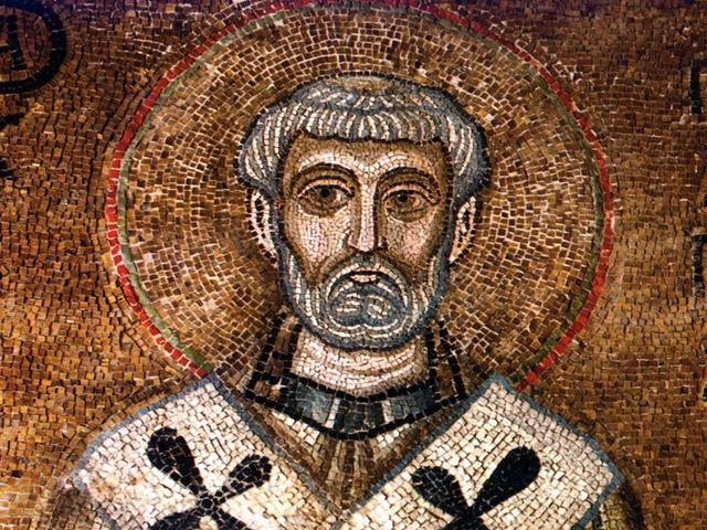 Св. Климент - мозаика Киевского Собора Святой Софии XI в