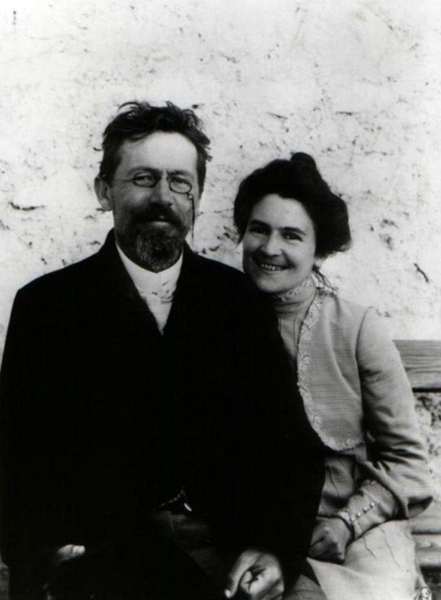 Ольга Книппер с Антоном Чеховым