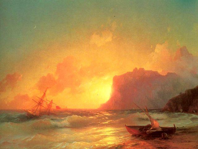 Коктебель на картине Айвазовского