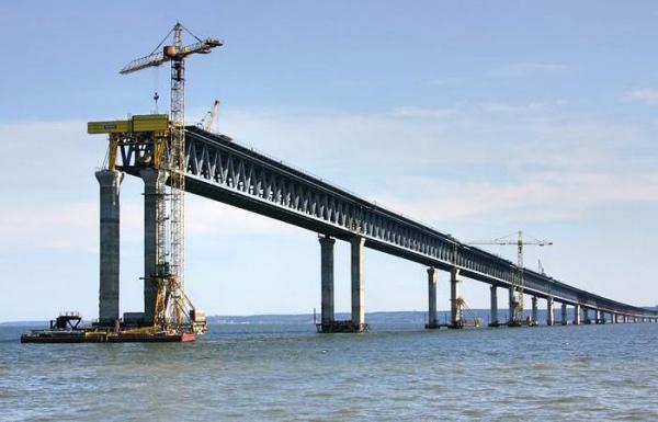 Крымский мост через Керченский пролив - фото строительства