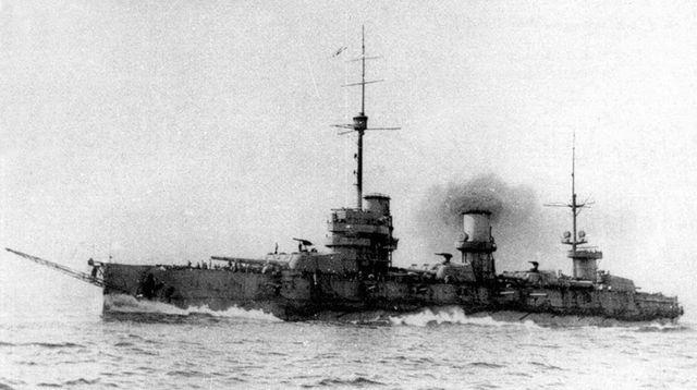 линейный корабль «Императрица Мария» в походе