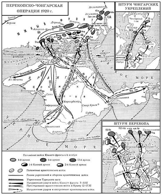 Карта штурма Перекопа 1920 год
