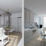 Кухня в скандинавском стиле от киевского дизайнера интерьера Ирины Карликовой