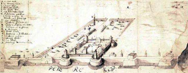 Крепость Ор-Капу на старинной гравюре