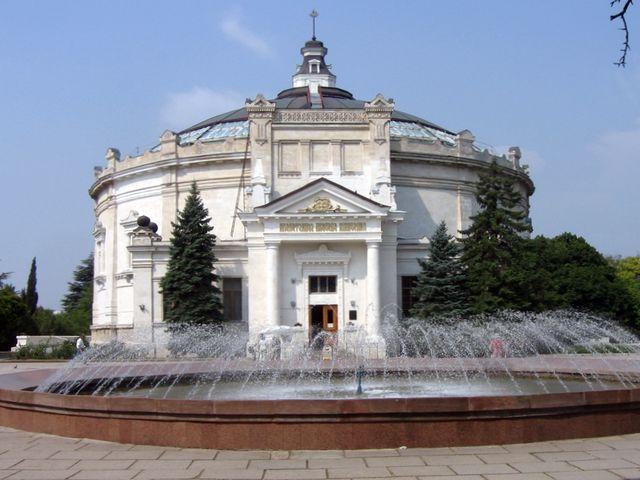 Здание панорамы на историческом бульваре