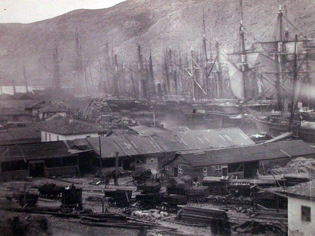 Строительство железной дороги англичанами в Балаклаве