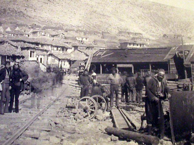 Строительство железной дороги в Балаклаве
