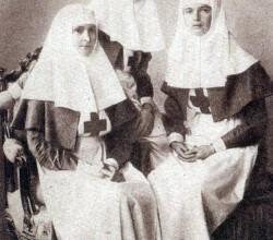 Императрица Александра Фёдоровна и княжны Ольга Николаевна и Татьяна Николаевна