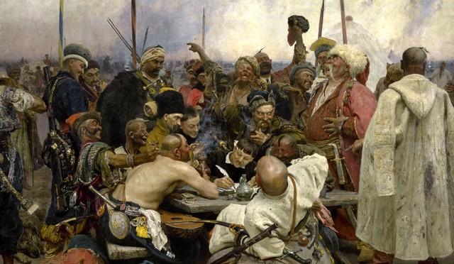 Репин, Запорожские казаки пишут письмо турецкому султану