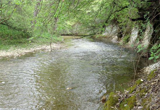 Река Бельбек на юго-западе Крыма