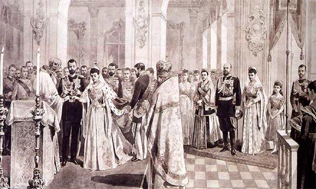 Венчание Князя Александра Михайловича и Ксении Николаевны