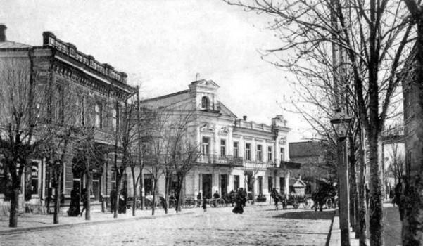 Екатерининская улица в Симферополе. Старое фото