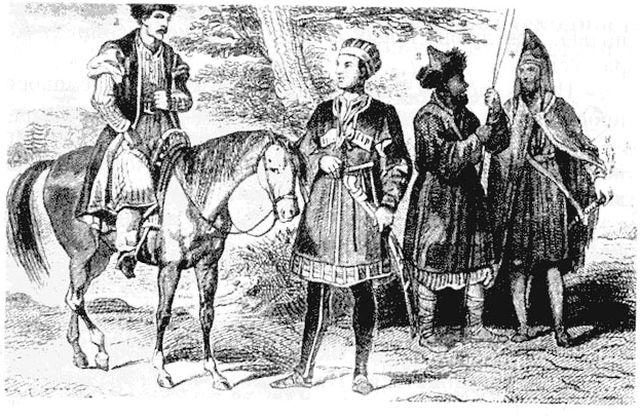 Крымские татары. Гравюра 19 века