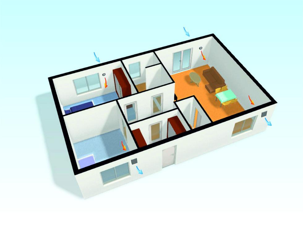Децентрализованная система вентиляции в доме:как это работает?