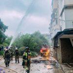 На пожаре в Нахимовском районе Севастополя пострадал человек