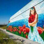 Художники арт-кластера «Таврида» ко Дню России нарисовали огромный пейзаж