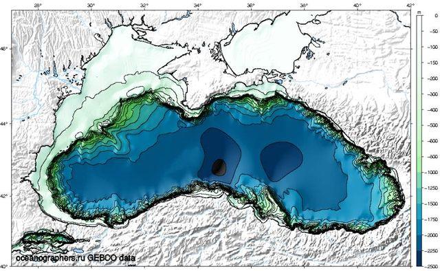 Карта глубин Черного моря
