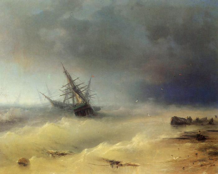 Буря - картина Айвазовского