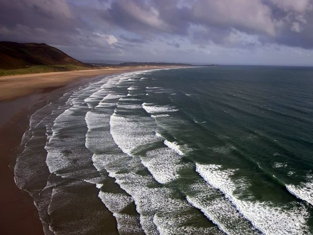Пляж с высоты птичьего полёта