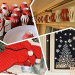 Вручение новогодних подарков на домашнем празднике