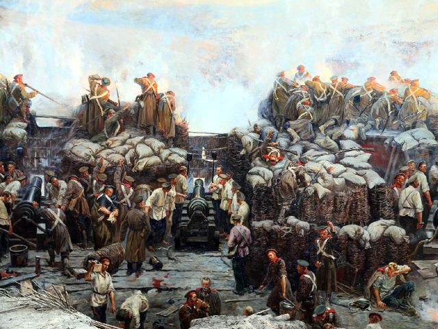 Русские солдаты на Севастопольской Панораме